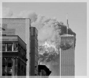 Getroffene Türme des WTC