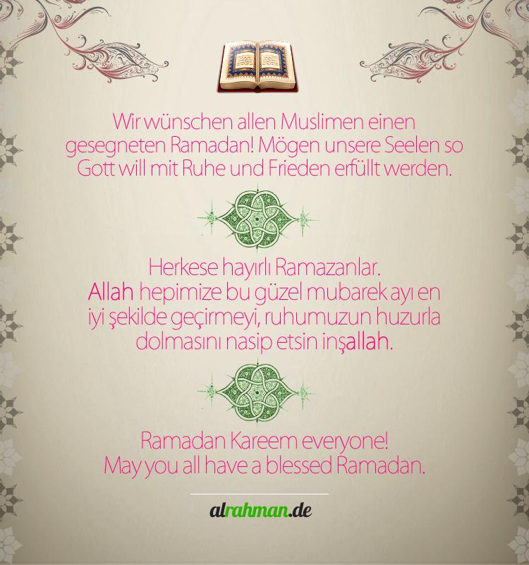 Wir wünschen einen gesegneten Ramadan!